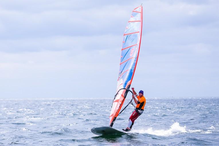 Denis Standhardt beim Rollei Windsurf und SUP Opening