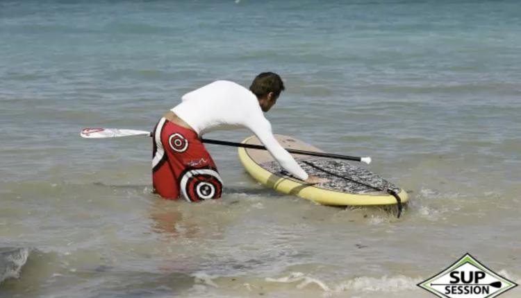 sup board ablegen