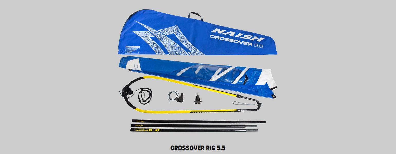 naish crossover rig 55 sup windsurf