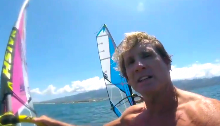 windsurf windfoil robby naish surf video