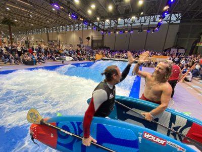 IMG 8159 400x300 - Fiona Wylde und Zane Schweitzer siegen bei den boot Düsseldorf SUP Wave Masters 2020