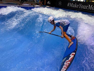 IMG 8211 400x300 - Fiona Wylde und Zane Schweitzer siegen bei den boot Düsseldorf SUP Wave Masters 2020