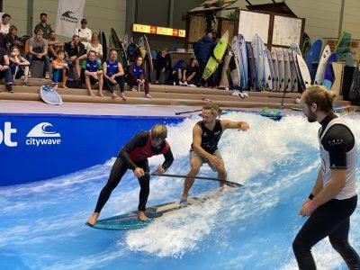 IMG 8242 400x300 - Fiona Wylde und Zane Schweitzer siegen bei den boot Düsseldorf SUP Wave Masters 2020