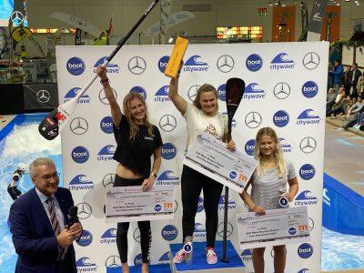 IMG 8254 400x300 - Fiona Wylde und Zane Schweitzer siegen bei den boot Düsseldorf SUP Wave Masters 2020